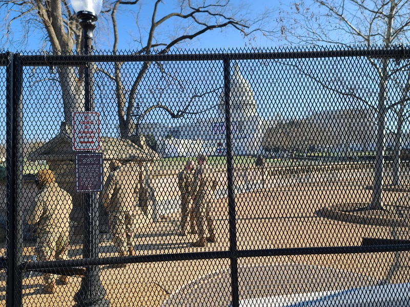 The National Guard stationed outside the U.S. Capitol | Andy Kratochvil
